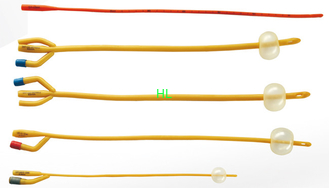 China Latex Silicone Coated 2-Way 3-Way Latex Foley Catheter 6Fr-26Fr Medical Tubing Supplies supplier