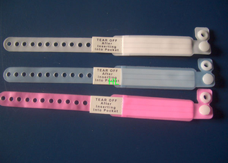 China Disposable Patient PVC ID Identification Bracelet Adult / Child Band supplier