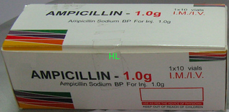 China Ampicillin Sodium Powder Injection 1.0g Antibiosis Drugs 3 Years Expiration Date supplier