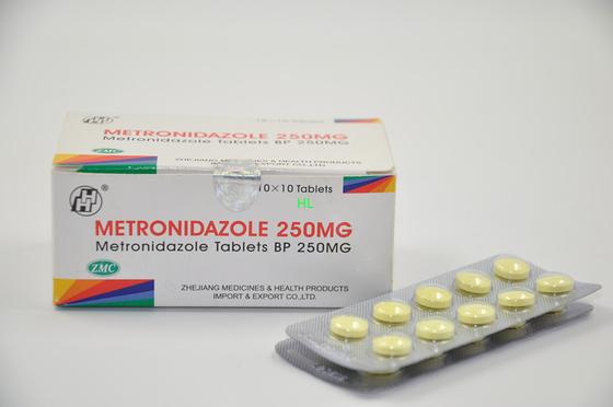 China Metronidazole Tablets 250MG 500M Antibiotic BP / USP Medicines distributor