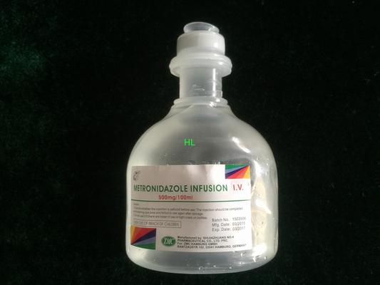 China Metronidazole Infusion 500MG / 100ML Injection Medicines BP / USP distributor