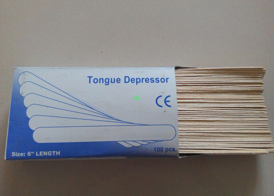 China CE / ISO  Wooden Tongue Depressor Disposable Medical Products Sterile factory