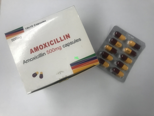 China Amoxicillin Capsules 250MG 500MG BP / USP Antibiotics Medicines distributor