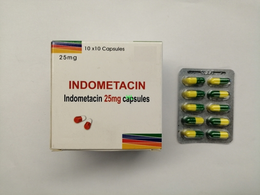 China Indomethacin Capsules 25MG BP / USP Antirheumatics 10*10's / box distributor